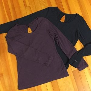 Two Columbia long sleeve shirts